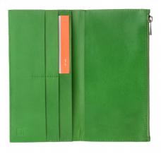 DuDu® dabīgas ādas zaļš maks Nr.189/8
