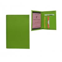 Dabīgas ādas zaļš auto dokumentu maks Nr.254/11